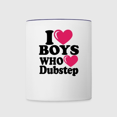 I heart boys dubstep - Contrast Coffee Mug