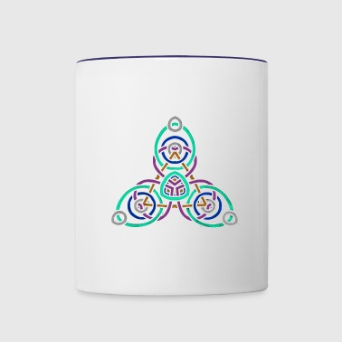 celtic knot 1 - Contrast Coffee Mug