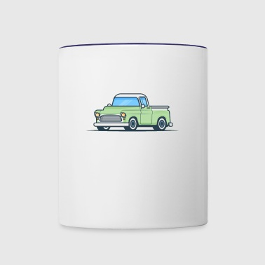 Green Pickup - Contrast Coffee Mug
