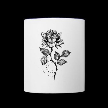 MINIMALIST ROSE - Contrast Coffee Mug