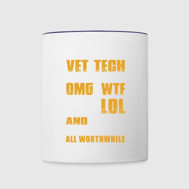 Vet Tech Being A Vet Tech Moments - Contrast Coffee Mug