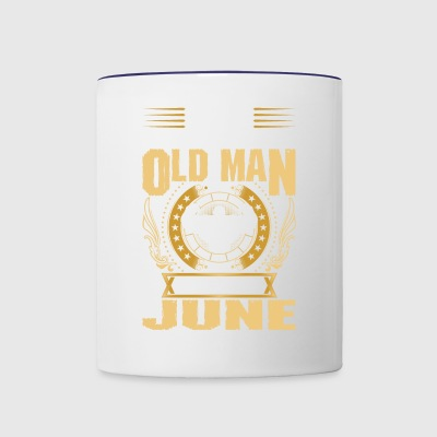 Never Underestimate An Old Man Born In June - Contrast Coffee Mug