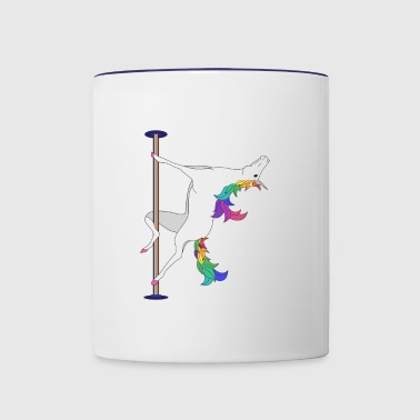 POLE DANCING UNICORN - Contrast Coffee Mug