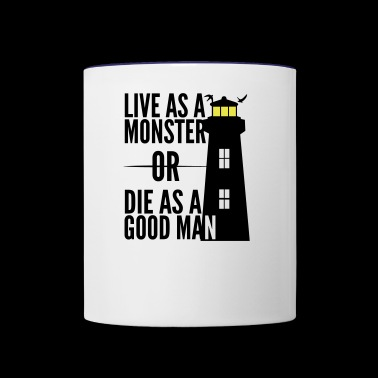 Monster or good Man! Shutter Island movie quote - Contrast Coffee Mug