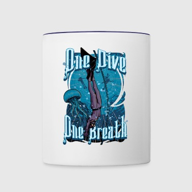 One Dive One Breath Freediving - Contrast Coffee Mug