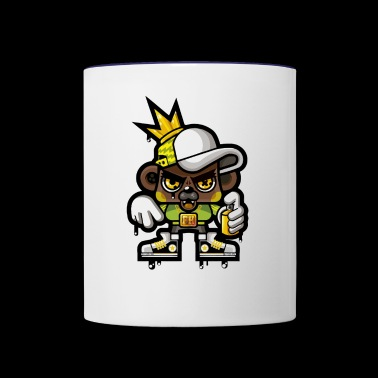 HOP HOP BEAR - Contrast Coffee Mug