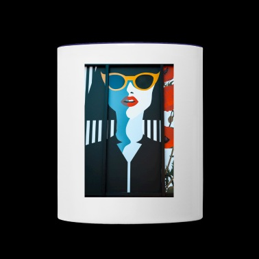 pop art - Contrast Coffee Mug