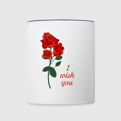 red rose - Contrast Coffee Mug