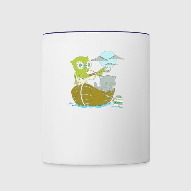 Pussy and Owl - Contrast Coffee Mug