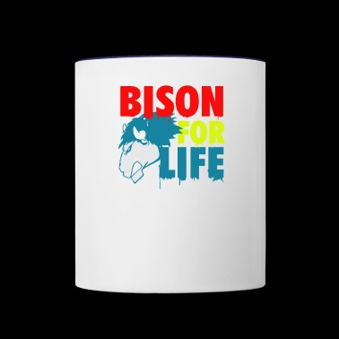 Bison for life - Contrast Coffee Mug