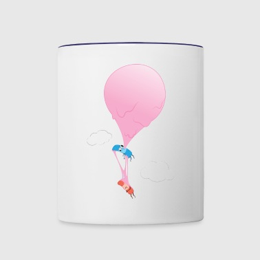 Ouch Bubble Gum Balloon - Contrast Coffee Mug