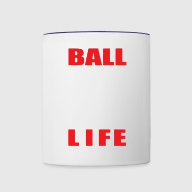 BALL IS LIFE FUNNY SPORTS - Contrast Coffee Mug