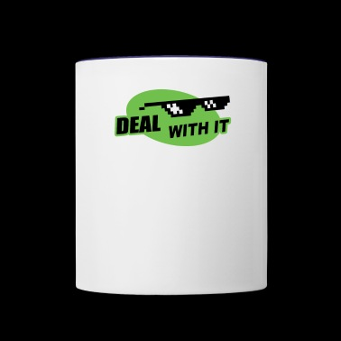 Deal With It - Contrast Coffee Mug