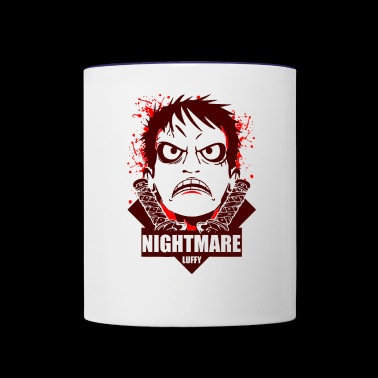 Nightmare luffy - Contrast Coffee Mug