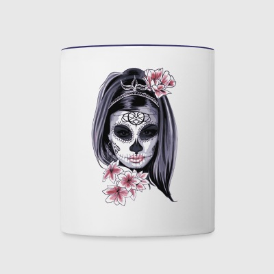 Woman Tatoo design - Contrast Coffee Mug