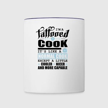 Tattooed Cook Pfade schwarz - Contrast Coffee Mug