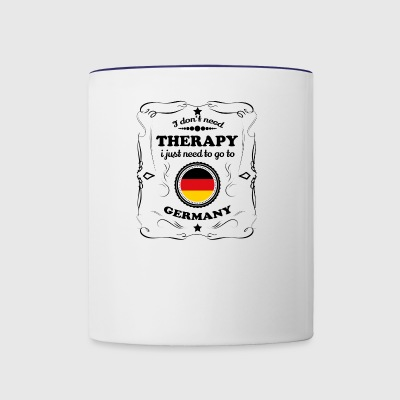 DON T NEED THERAPIE GO GERMANY - Contrast Coffee Mug