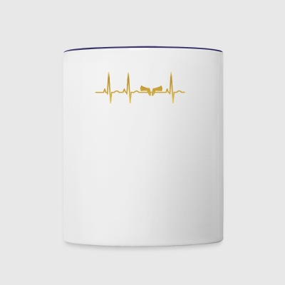 evolution ekg heartbeat waffe sheriff weapon pisto - Contrast Coffee Mug