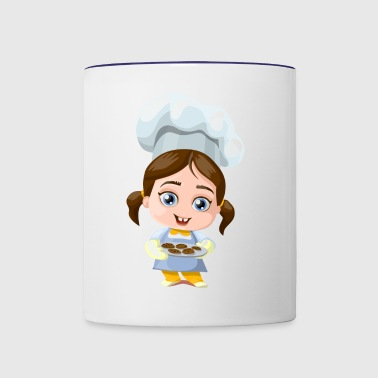 cookie girl - Contrast Coffee Mug