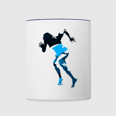 Silhouettes run woman sprint sports vector image - Contrast Coffee Mug