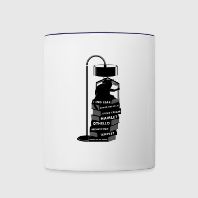 Cat reading Shakespeare - Contrast Coffee Mug