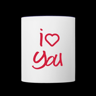 love you - Contrast Coffee Mug