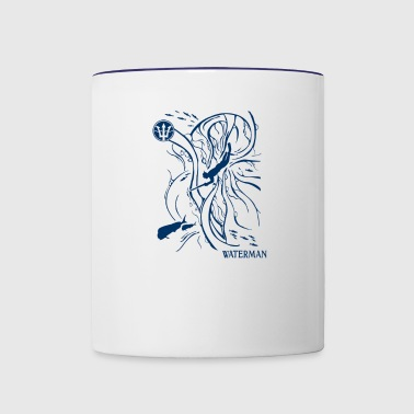 Ocean freediver - Contrast Coffee Mug