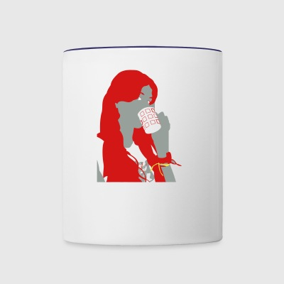 Drinking Girl - Contrast Coffee Mug