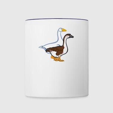 Animal Animals Farm Geese Goose 2024041 - Contrast Coffee Mug