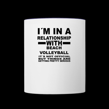 relationship with BEACH VOLLEYBALL - Contrast Coffee Mug