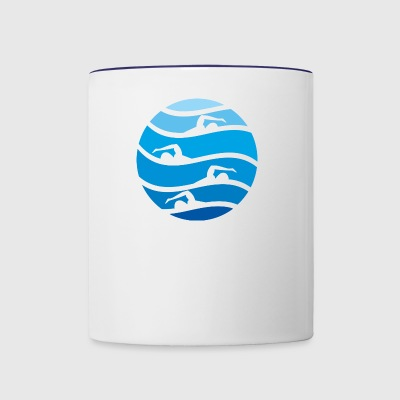 swimming - Contrast Coffee Mug