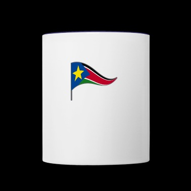 South Sudan Africa Flag Banner Flags Ensigns - Contrast Coffee Mug