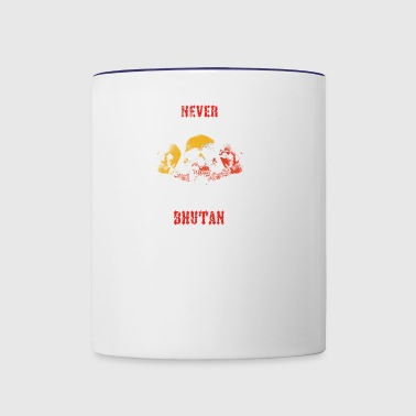 never underestimate man BHUTAN - Contrast Coffee Mug