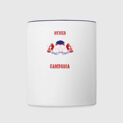 never underestimate man CAMBODIA - Contrast Coffee Mug