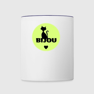 Bijou first name cats name - Contrast Coffee Mug