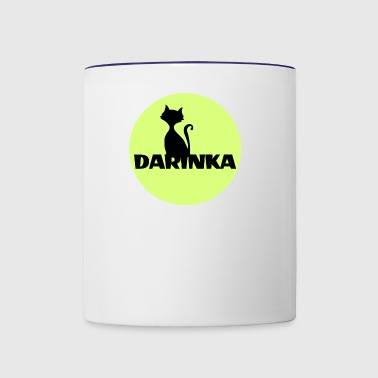 Darinka first name - Contrast Coffee Mug