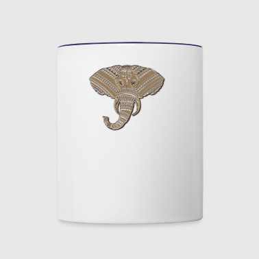 Abstract African Elephant Wildlife Safari Design - Contrast Coffee Mug