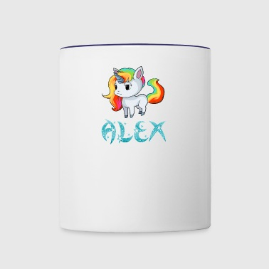 Alex Unicorn - Contrast Coffee Mug