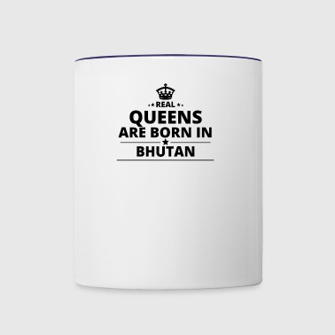 geschenk love queens are born BHUTAN - Contrast Coffee Mug