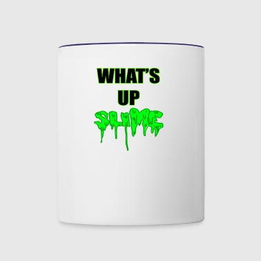 WHATS UP SLIME T-SHIRT DESIGN - Contrast Coffee Mug