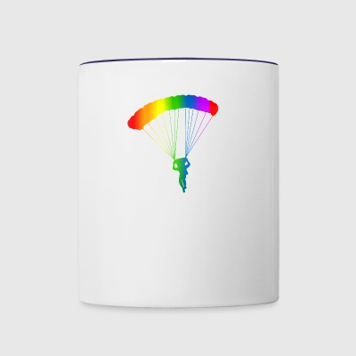 Colorful Parachute Rainbow - Contrast Coffee Mug