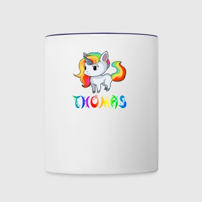 Thomas Unicorn - Contrast Coffee Mug