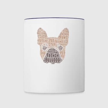 French Bulldog Word Cloud - Contrast Coffee Mug