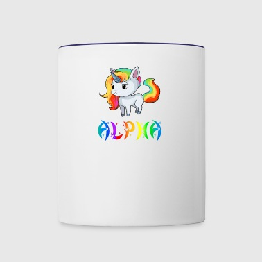 Alpha Unicorn - Contrast Coffee Mug
