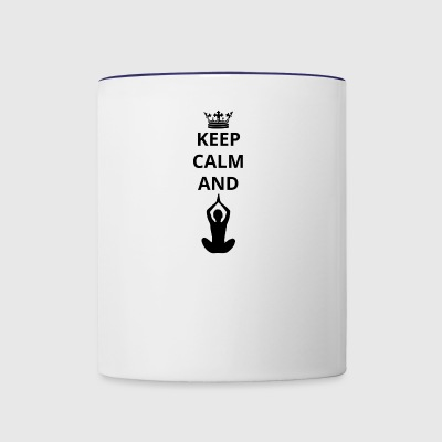 geschenk keep calm and yoga 7 png - Contrast Coffee Mug