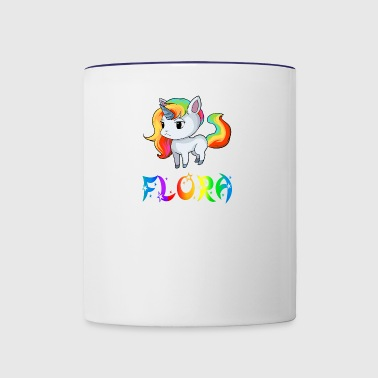 Flora Unicorn - Contrast Coffee Mug