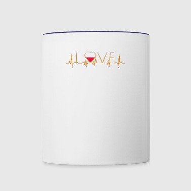 home roots heimat love heart from POLEN polska pol - Contrast Coffee Mug
