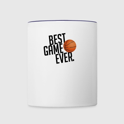 BEST GAME EVER BASKETBALL GIFT - Contrast Coffee Mug