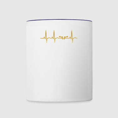 evolution ekg heartbeat pistole pistols weapon pol - Contrast Coffee Mug