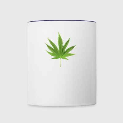 Weed low polygon effect - Contrast Coffee Mug